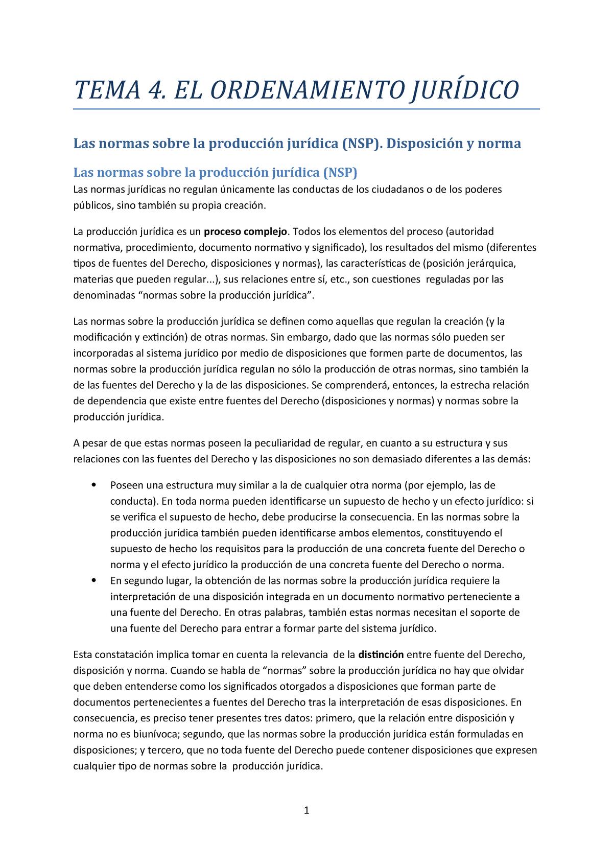 Tema 4 El Ordenamiento Juridico D Constitucional I