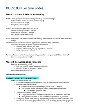 role of accounting concepts