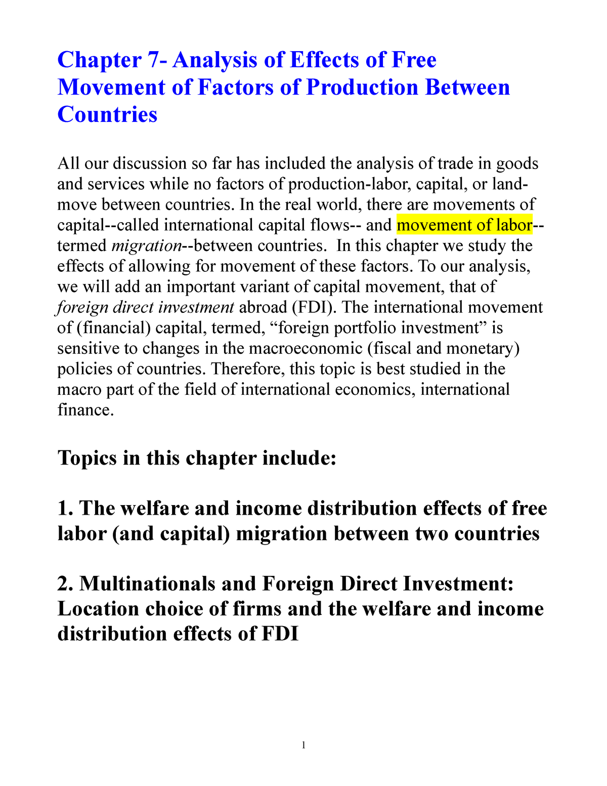 Impact of international taxation on FDI location choice