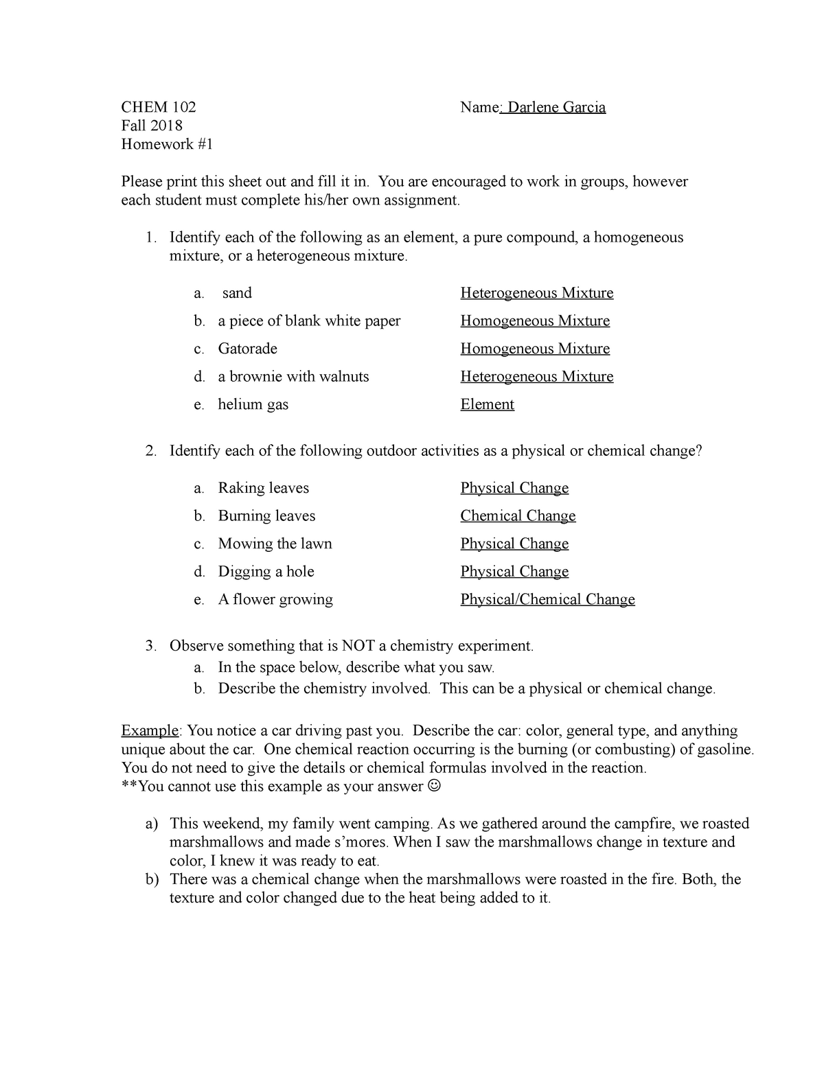 Che 102 Homework 1 Che 102 Chemistry For The Citizen Studocu