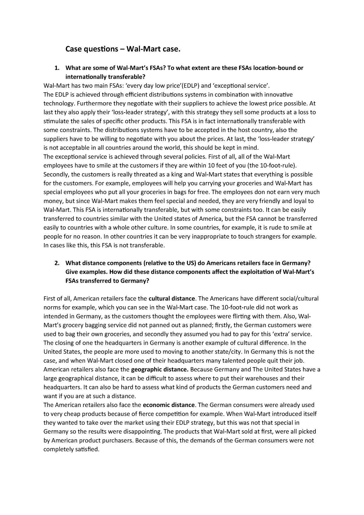 Walmart Case - EBP003A05: Introduction to International