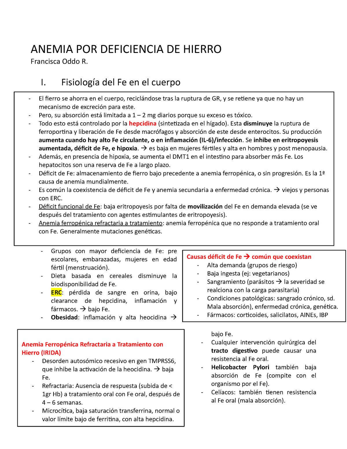 Ferritina alta sintomas tratamiento y dieta