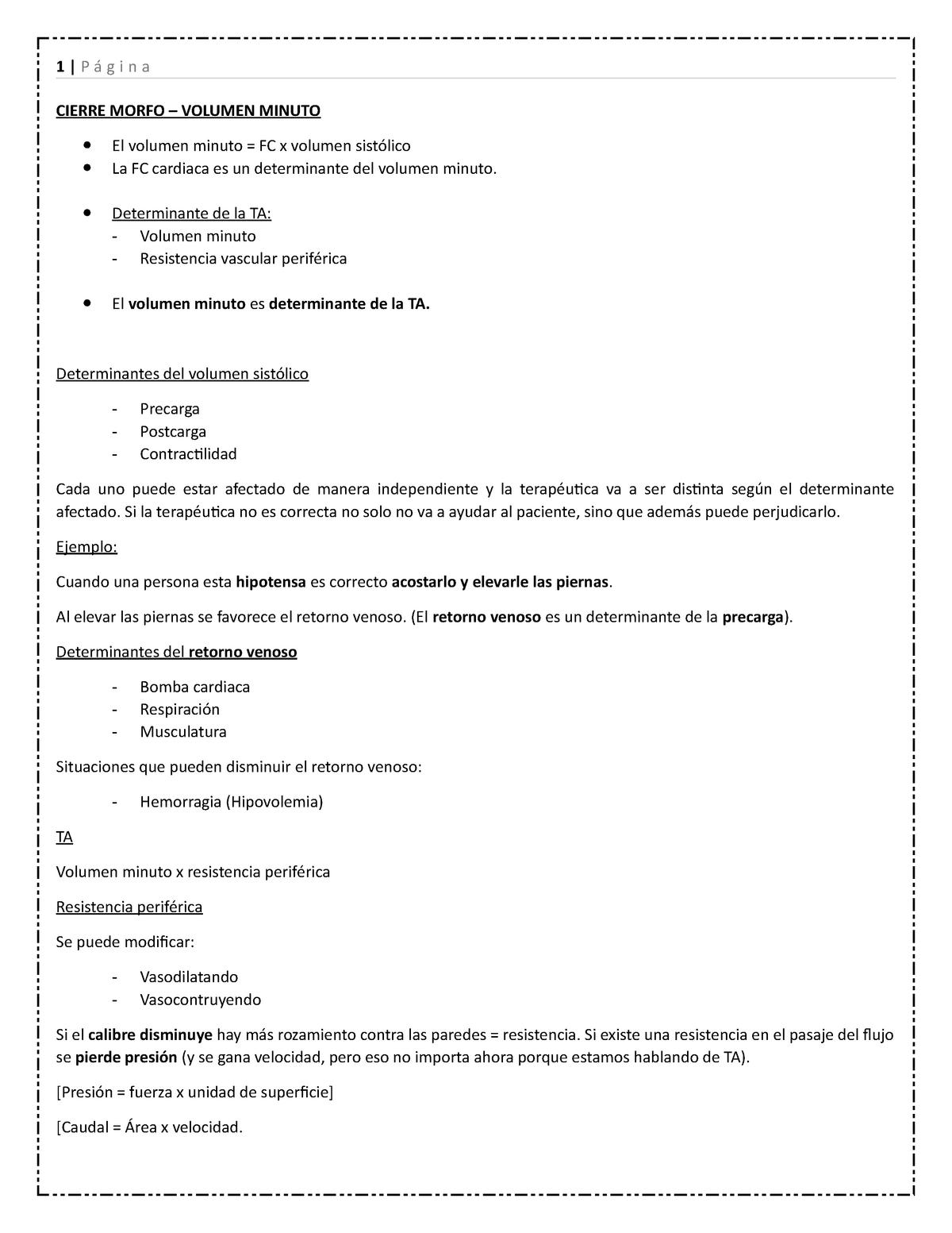 2- Cierre Morfo - Volumen Minuto - 1362: Nacimiento, Crecimiento Y  Desarrollo - StuDocu
