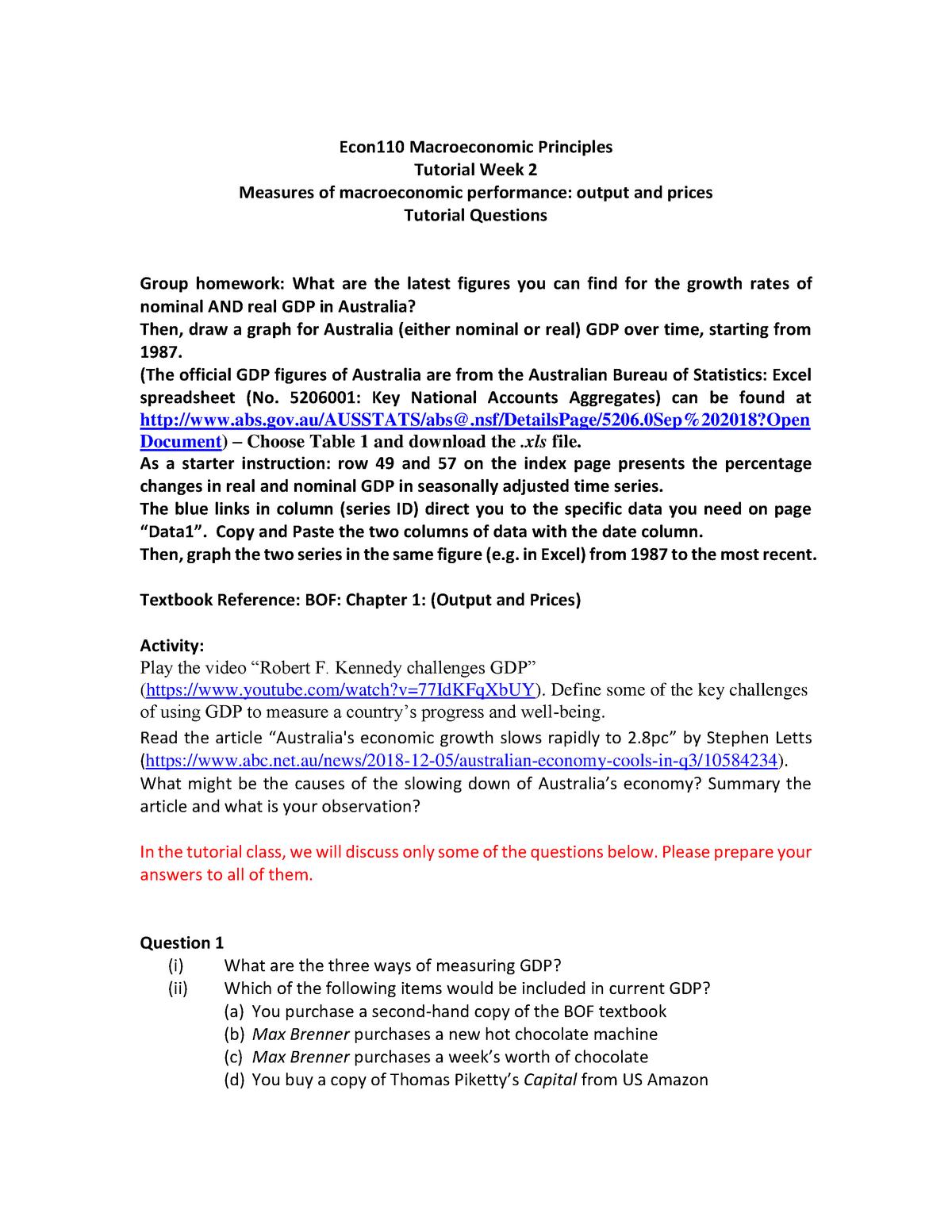 Week 2 Solutions ECON 110 - ECON111: Microeconomic