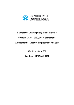 Assessment 1 - Creative Employment Analysis 2018 - 9700: Creative