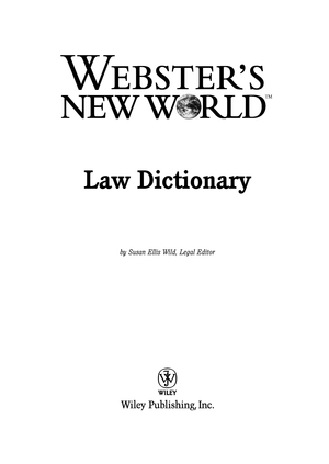 Law Dictionary ( PDFDrive com ) - Law435A: Constitutional Law - StuDocu