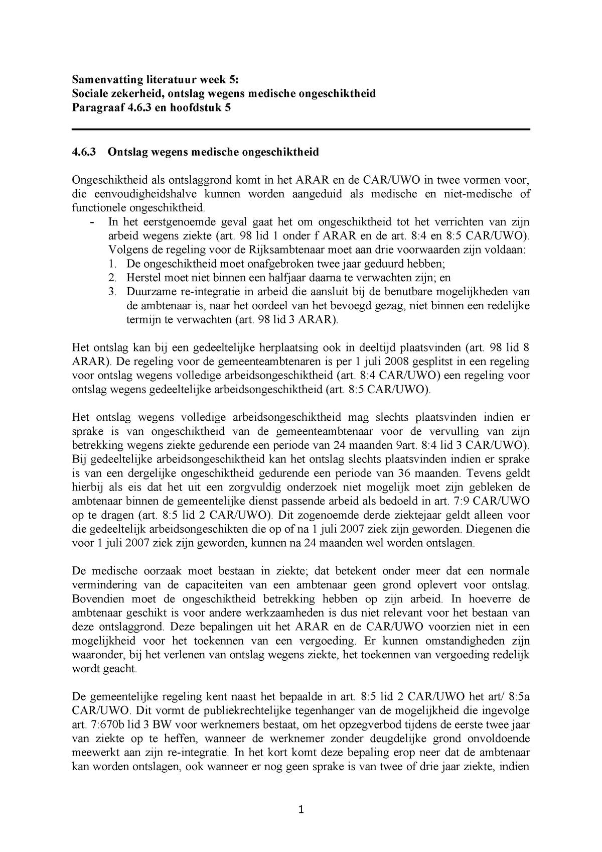 Samenvatting Inleiding Nederlands Ambtenarenrecht | De