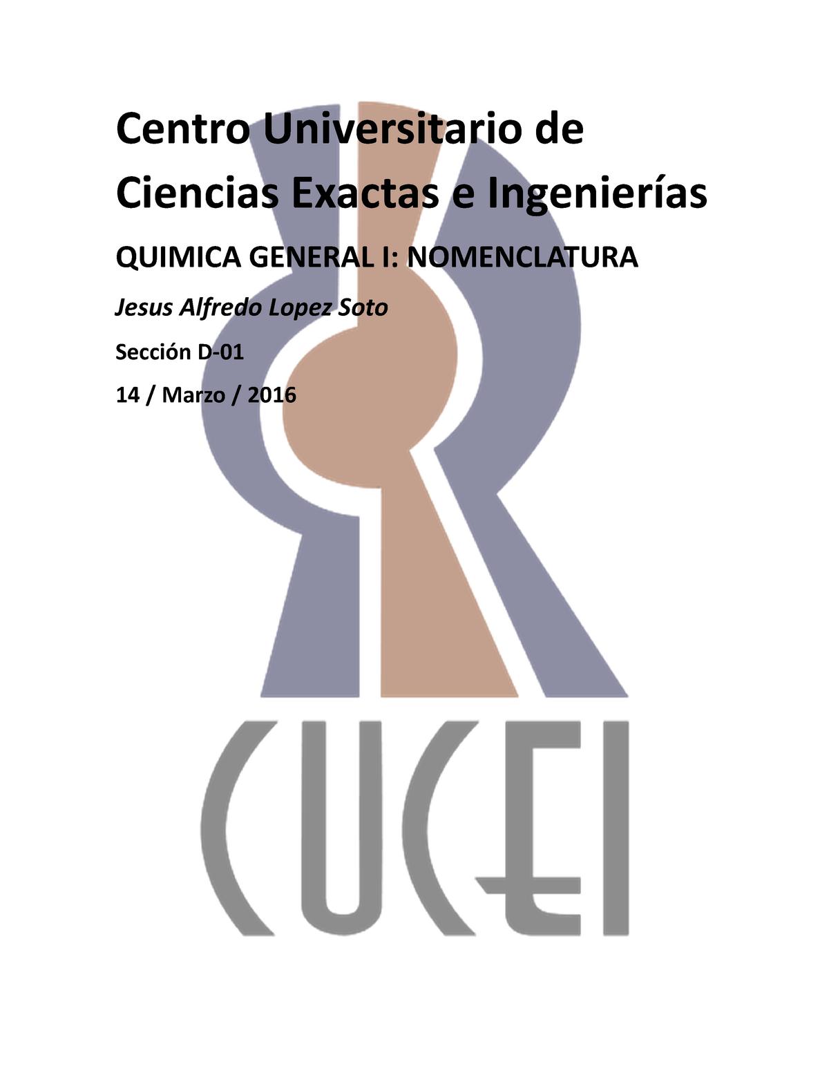 Nomenclatura Química Bc110 Udeg Studocu