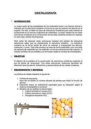 Memoria Práctica 4 Ciencia De Materiales 11411 Upv Studocu