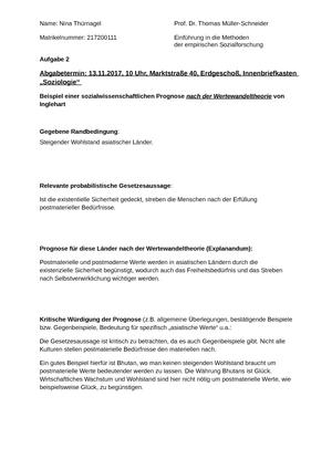 Aufgabe 2 0106002 Einführung In Die Empirische Sozialforschung