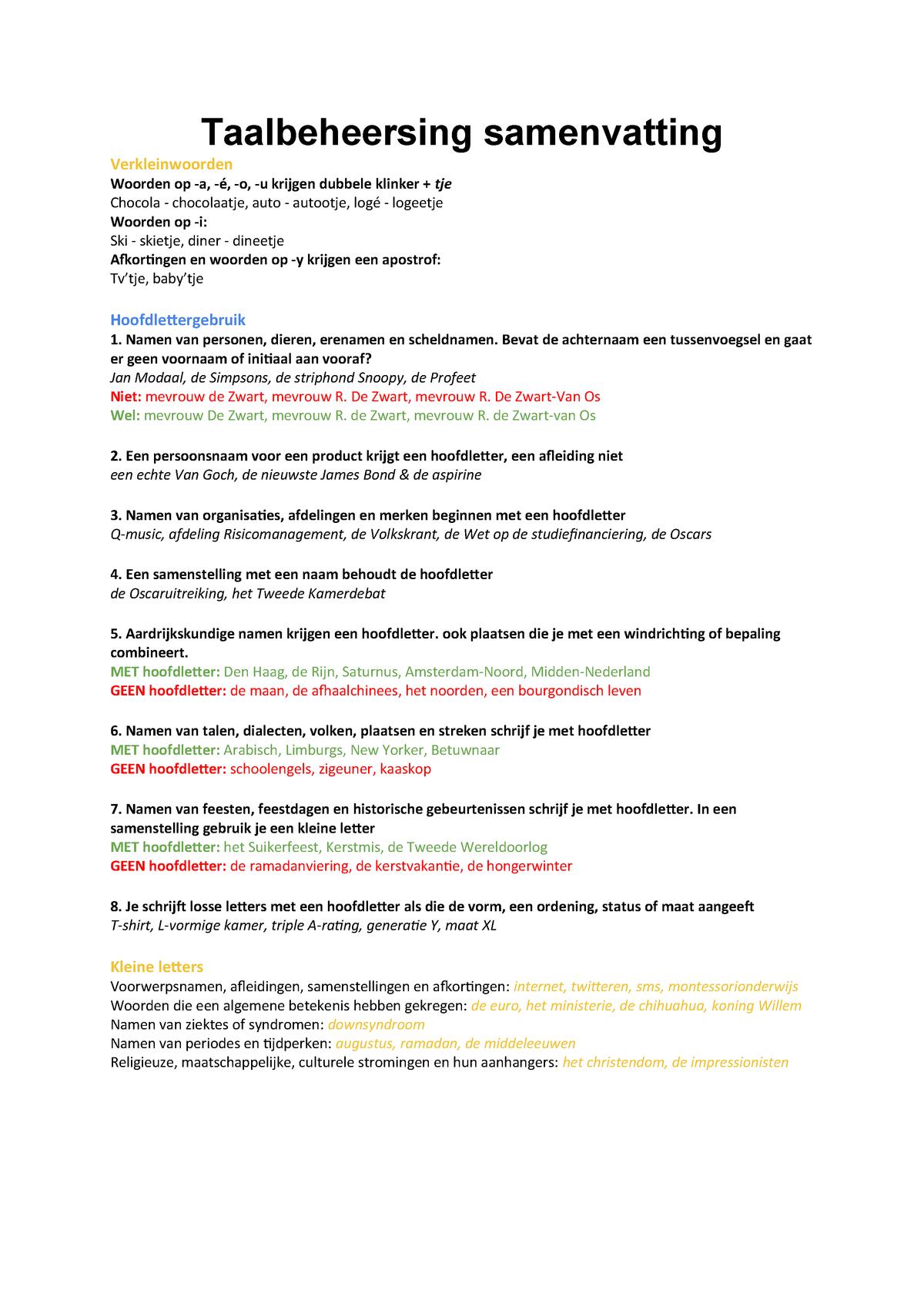Taalbeheersing Samenvatting M11 Jnvm11tbh1718 Studocu