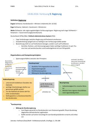 09 Regierung - Zusammenfassung Politische Institutionen in ...
