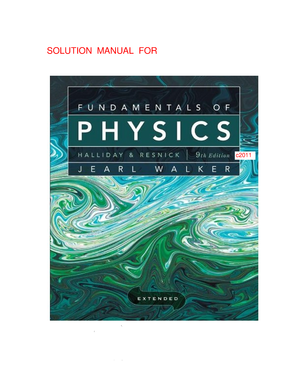 fundamentals of physics extended halliday resnick 9th edition rh studocu com