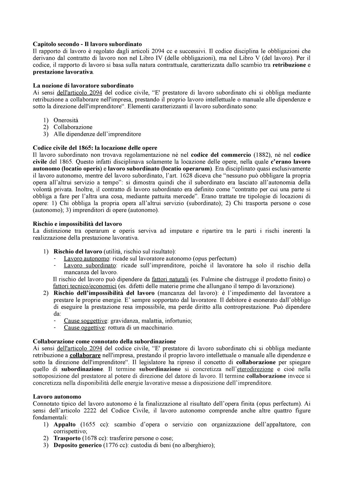 Contestazione Disciplinare 5 Giorni Lavorativi O Calendario.Diritto Del Lavoro Studocu