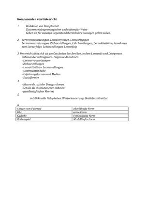 Übungen - Komponenten Von Unterricht, Lösungen - 406588: Einführung ...