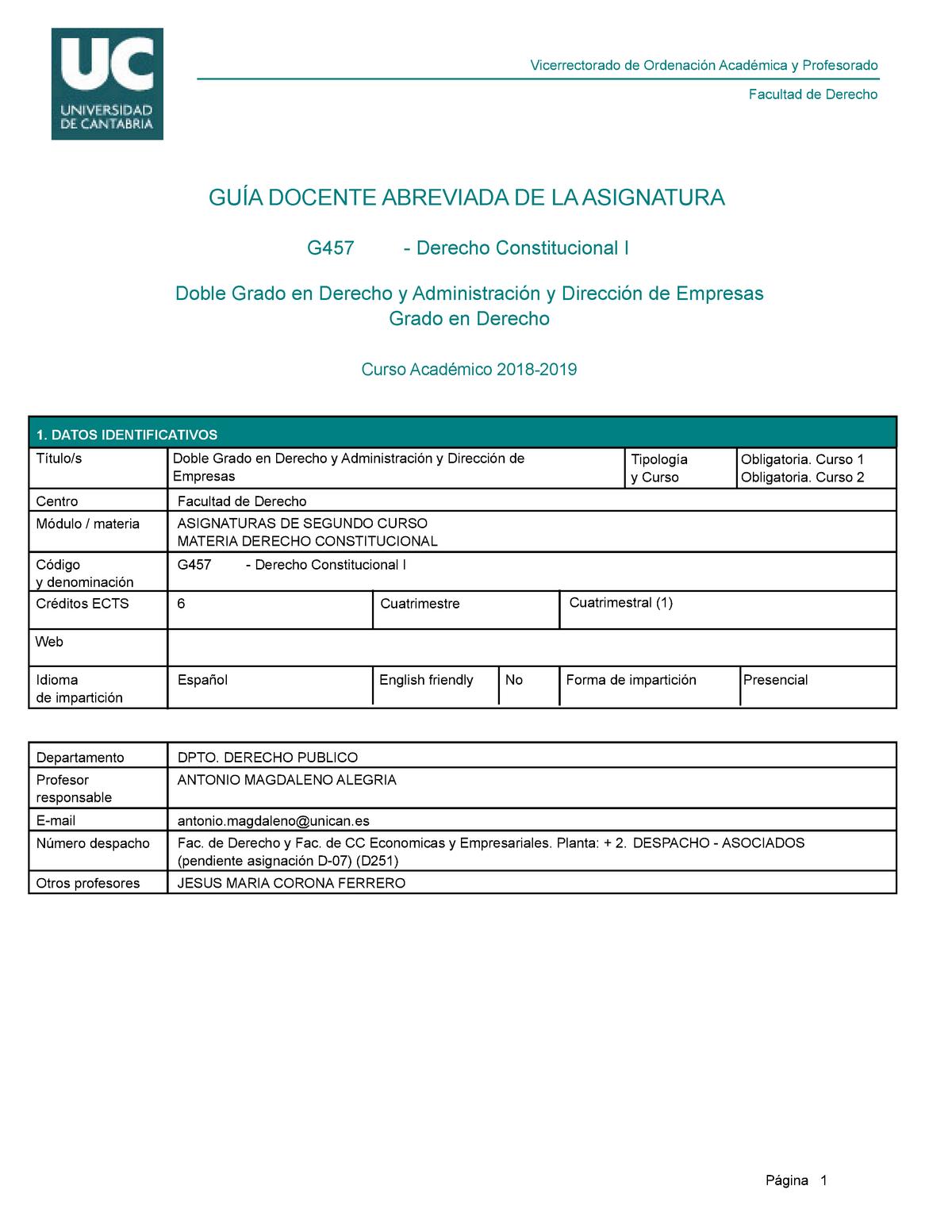 Calendario Examenes Unican Derecho.Resumen G457 G457 26 Jan 2019 Studocu