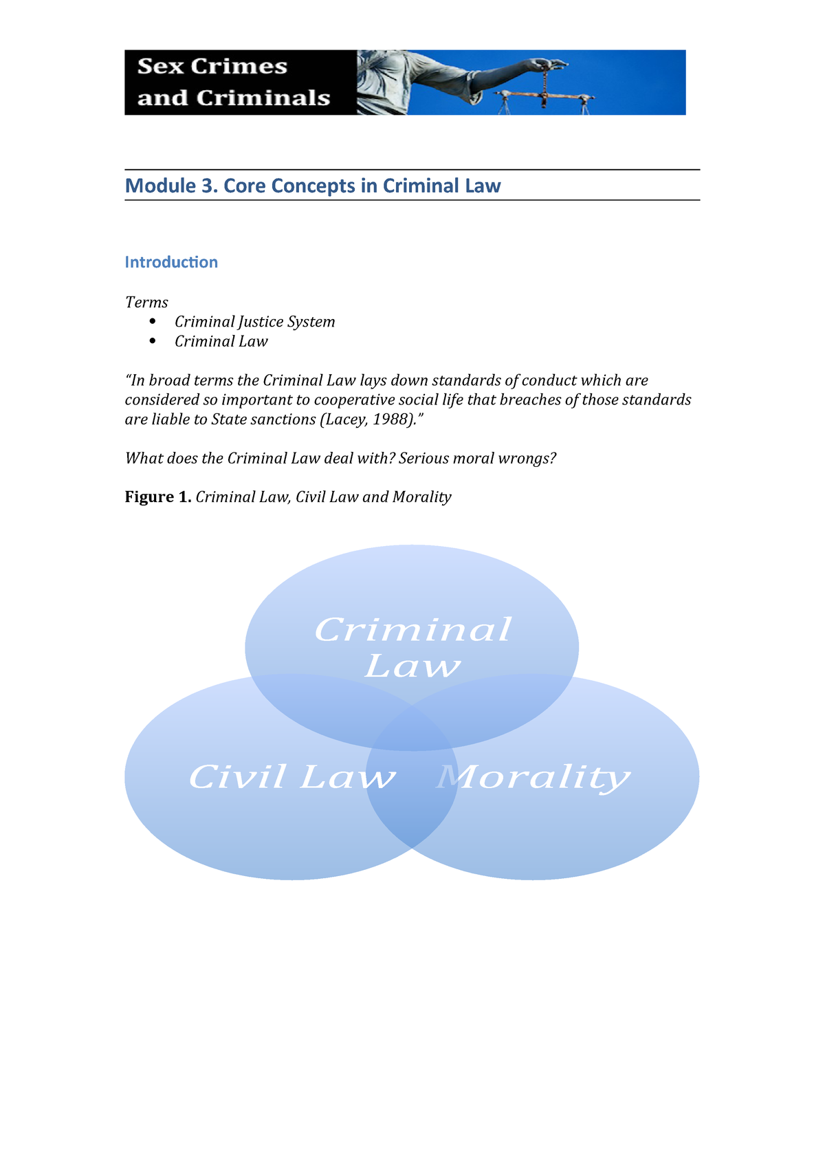 Module 3 Overheads - LAW658 Sex Crimes - UTAS - StuDocu
