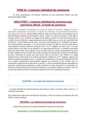 L Exercice Individuel Du Commerce Droit Commercial Uca