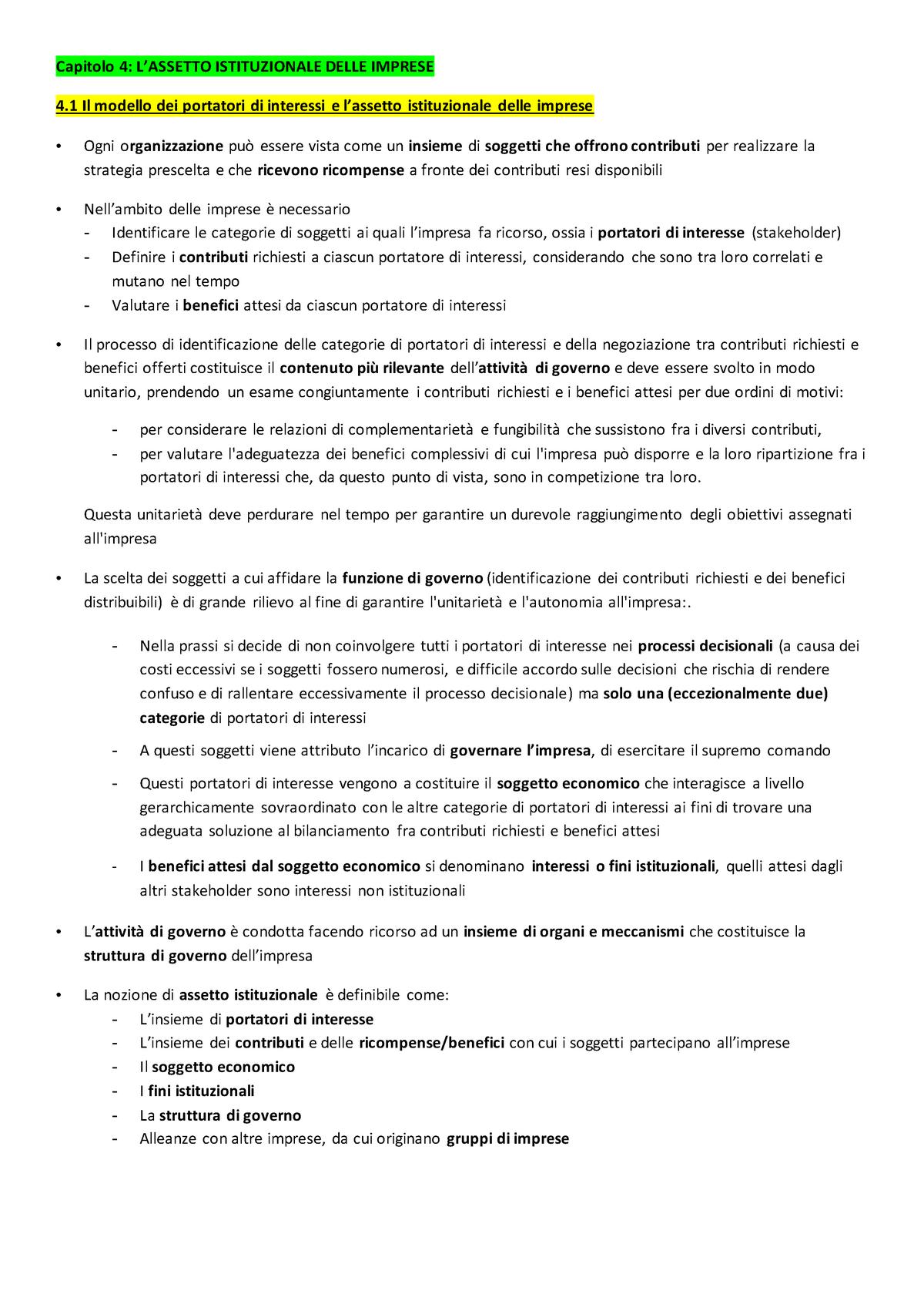 a9133cd0e2 Riassunto capitolo 4 Lezioni di Economia Aziendale di E. - StuDocu