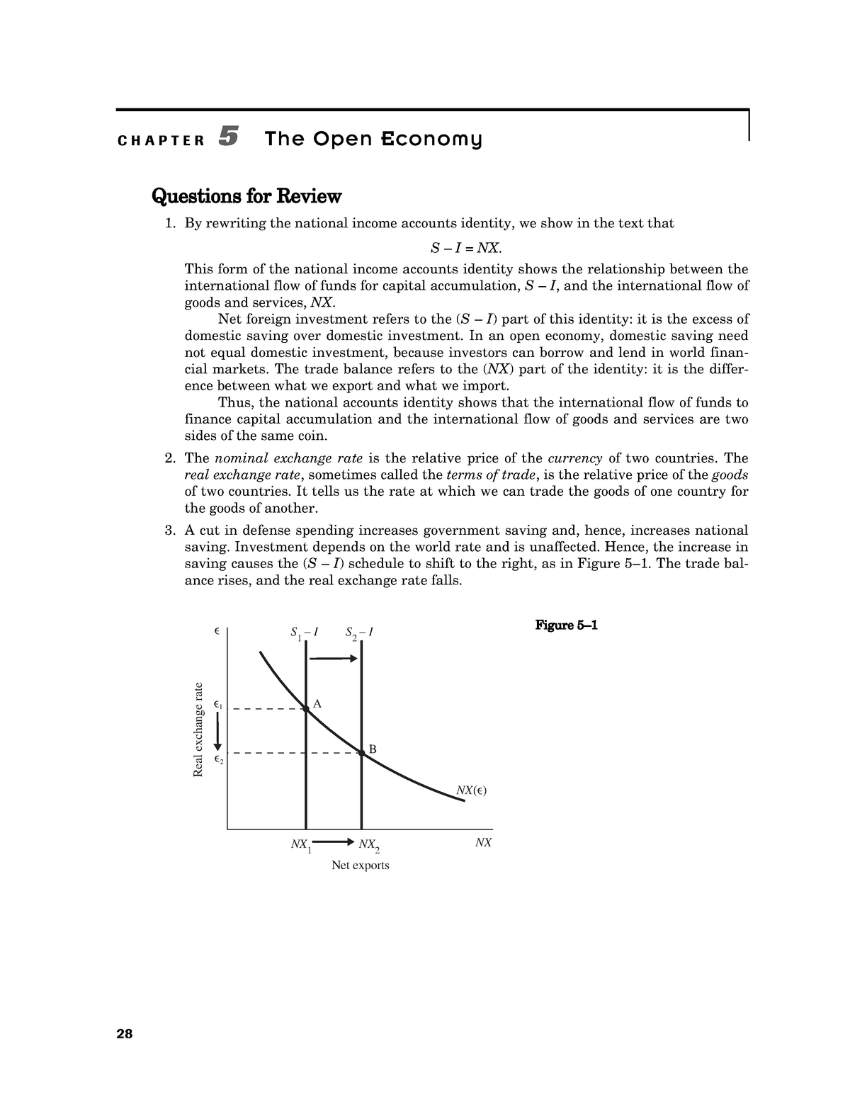 Mankiw Macroeconomics Chapter 5 Answer Ke - - 가천대학교