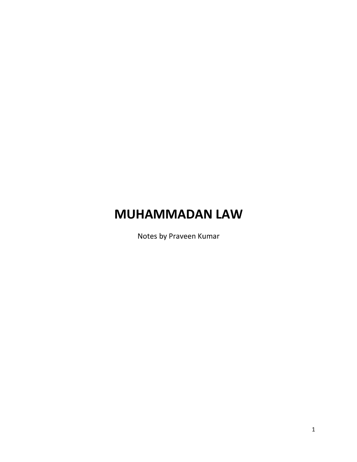 Muhammadan Laws - 0205 - StuDocu