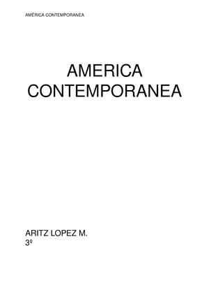América Contemporanea 28124 América Contemporánea Studeersnelnl