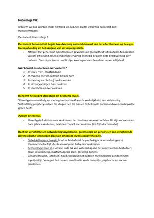 Samenvatting Gve 1vpk1 11 Gve 1vpk1 11 22 Nov 2015 Studeersnelnl