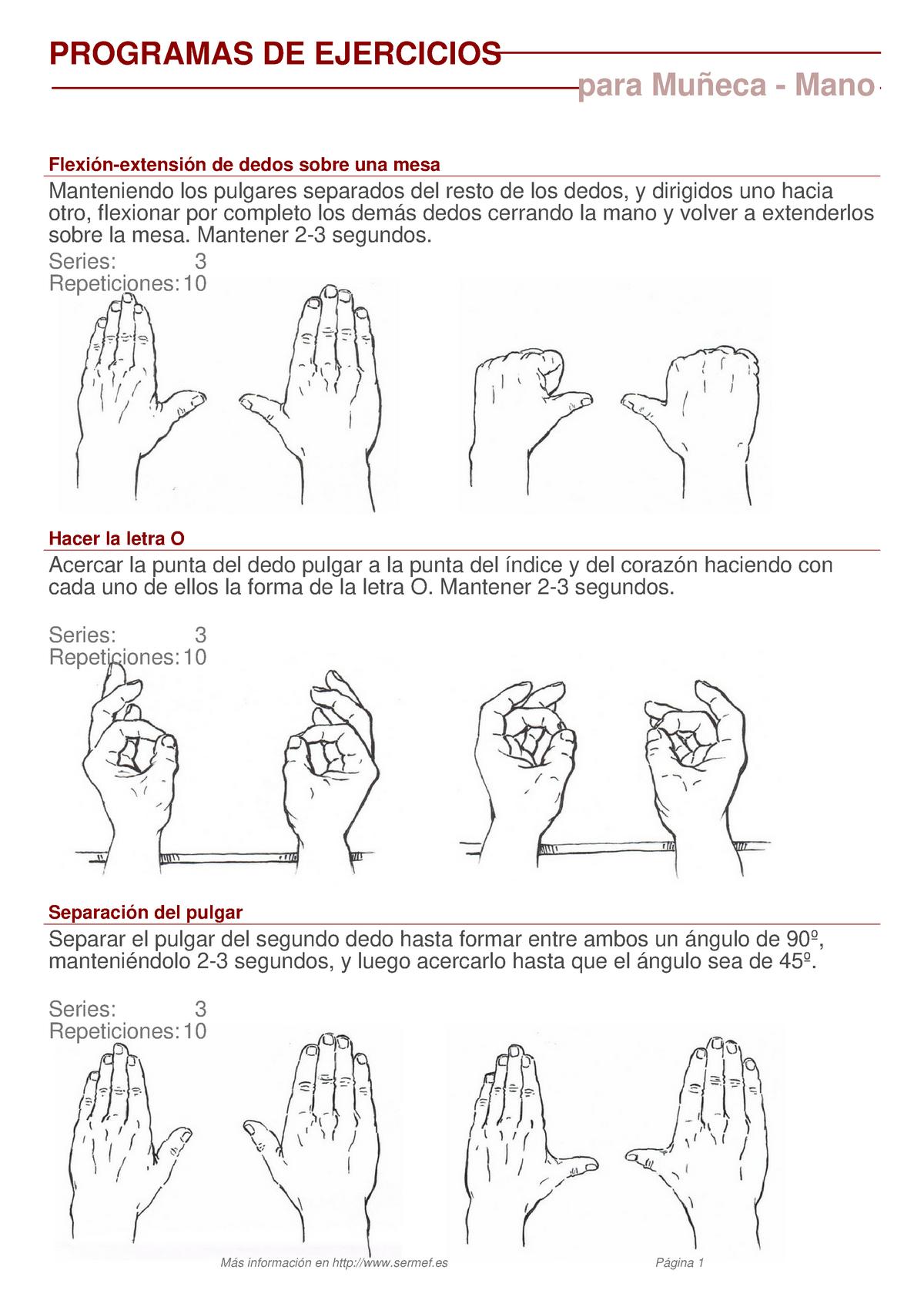 ejercicios para artrosis pulgar