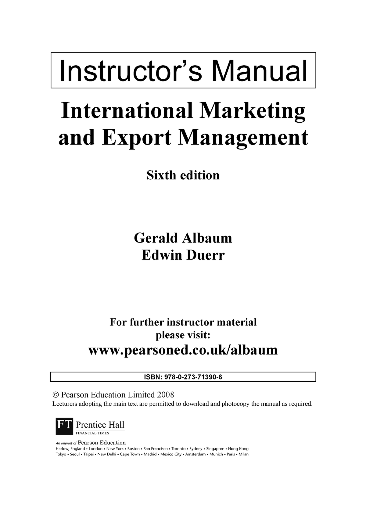 Marketing and export - INBS 347 - MSU - StuDocu