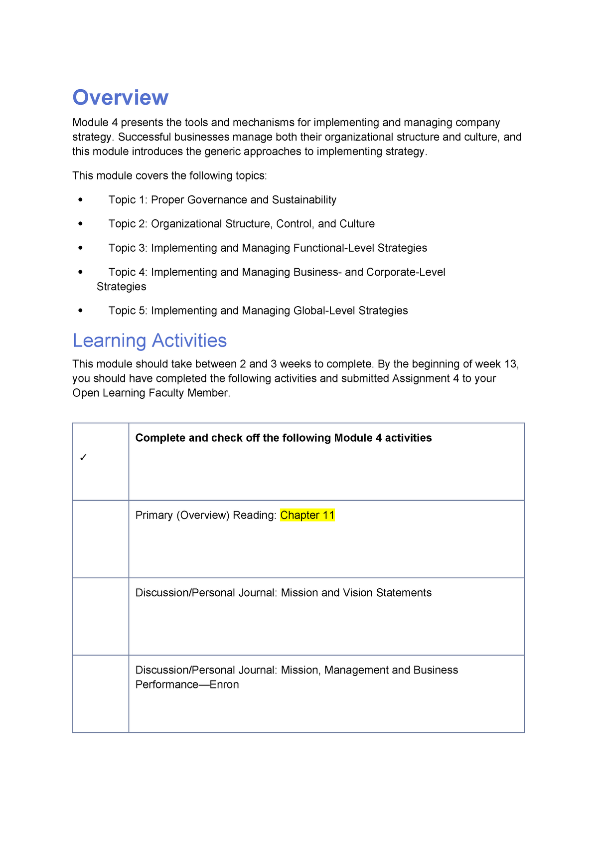 4781 Module 4 BB - Lecture notes 4 - MNGT 4781 - TRU - StuDocu