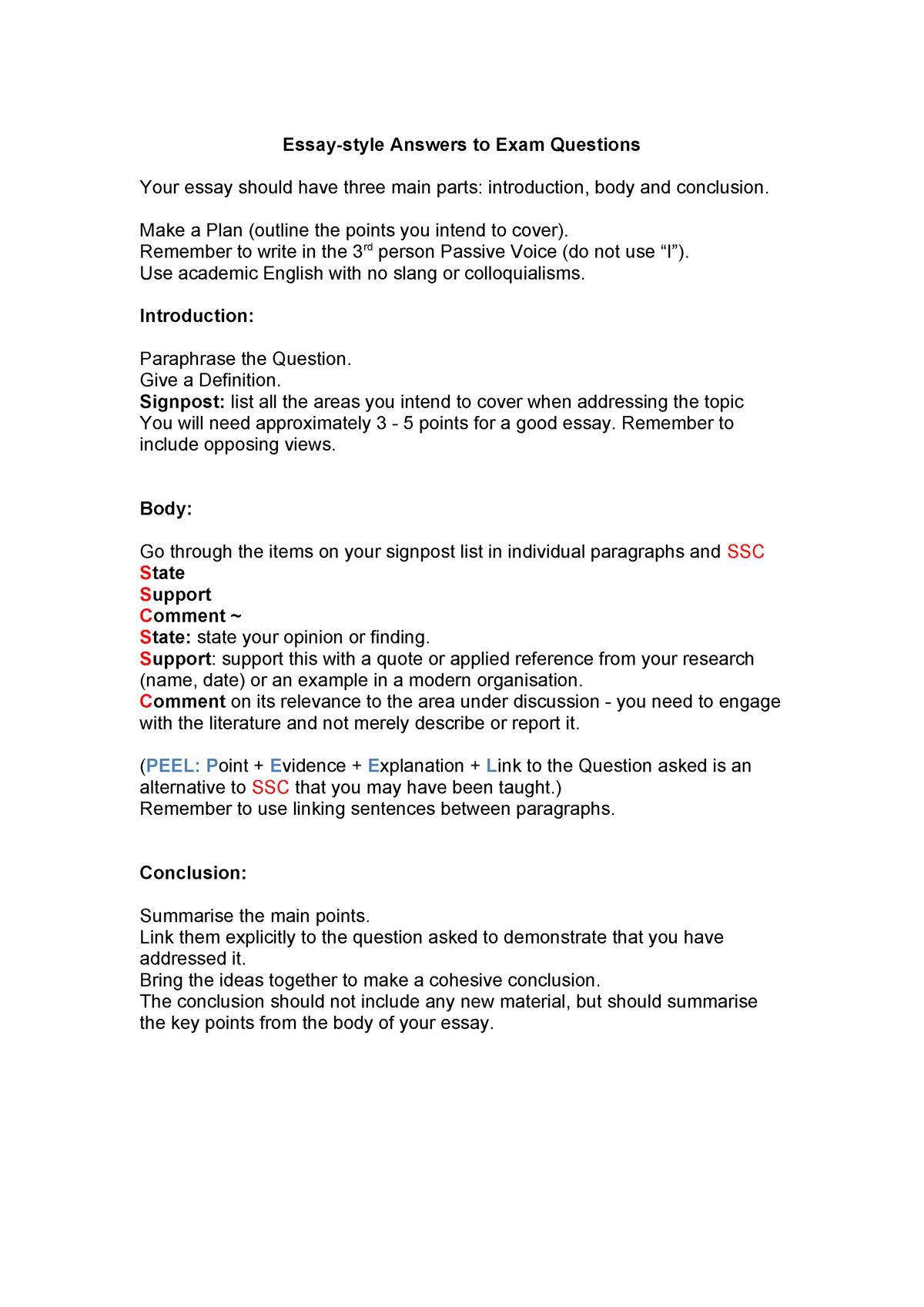 Essay writing template - BBUS502: Making Management