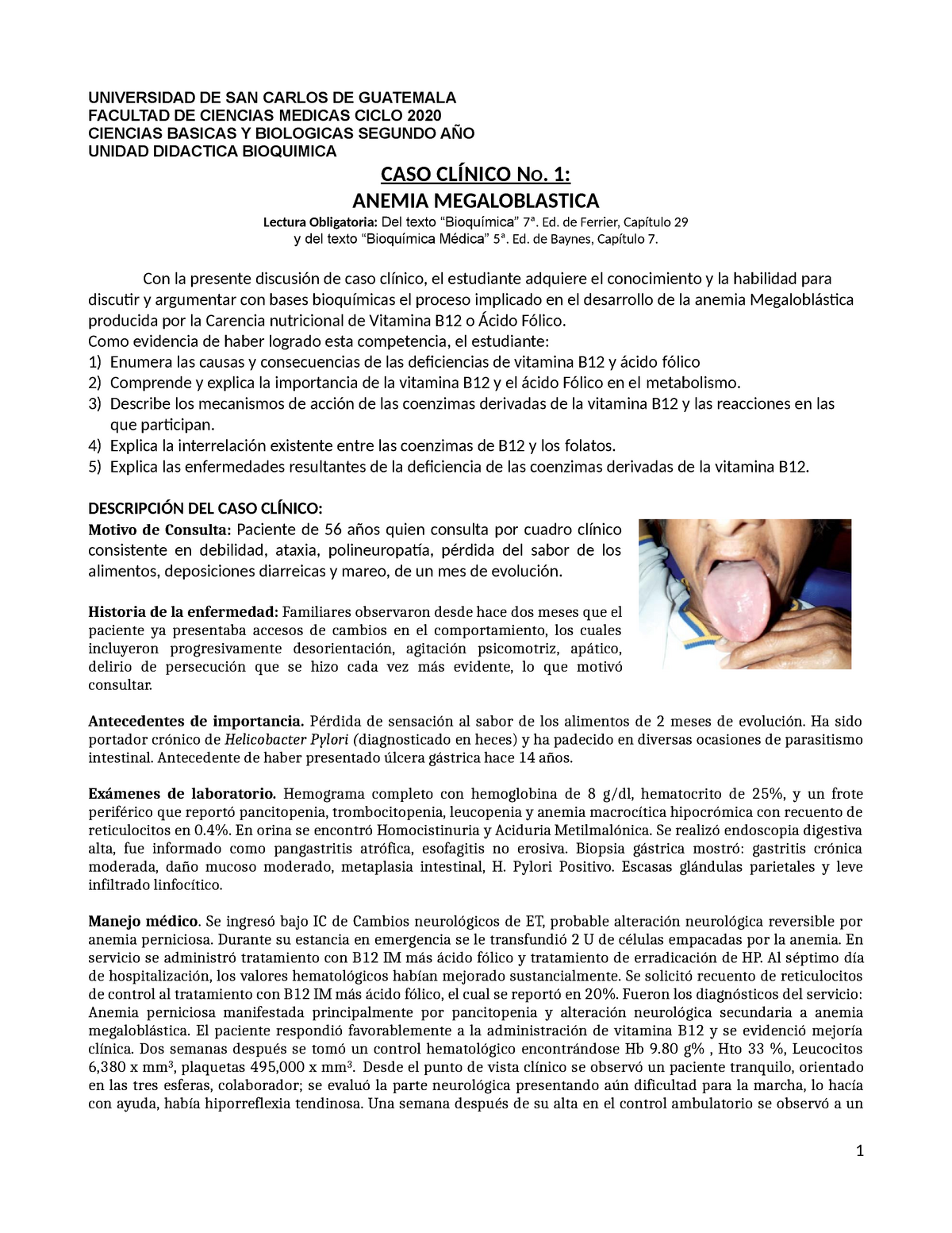cuadro clinico de anemia megaloblastica pdf