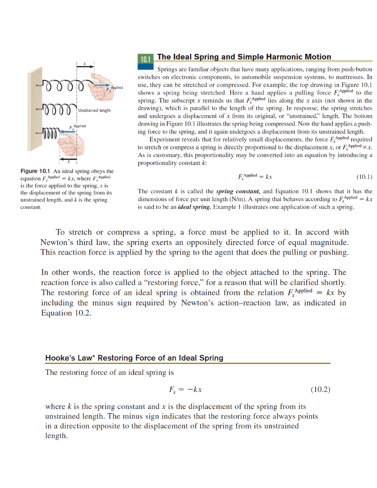 Chap 9 lecture problems and notes - 03 64 130: Introductory