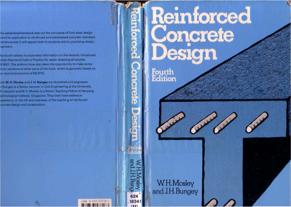 Reinforced Concrete Design 4th Ed- Mosley - Btech: RCD401T