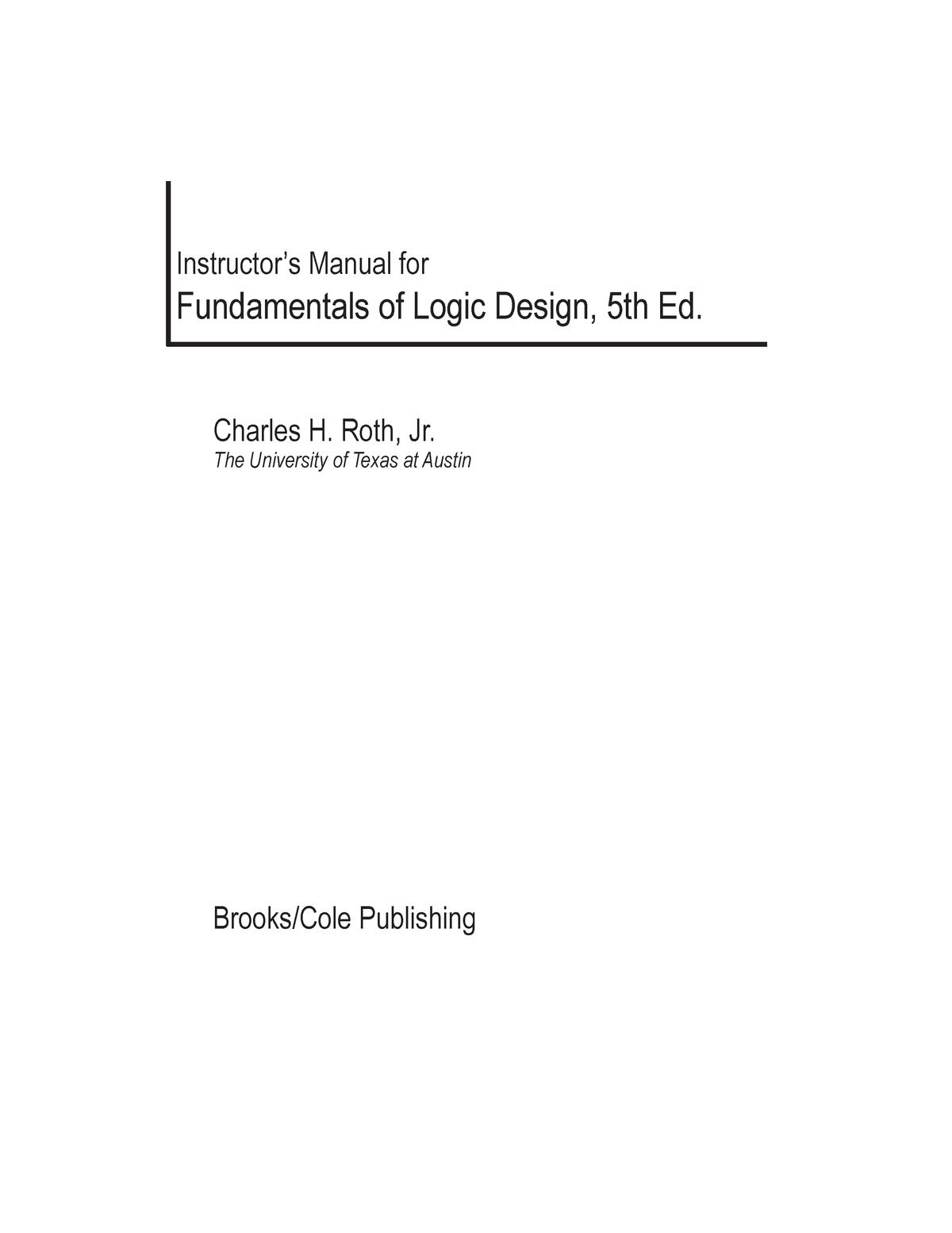 Fundamentals Of Logic Design Roth Ec1003 臺科大 Studocu
