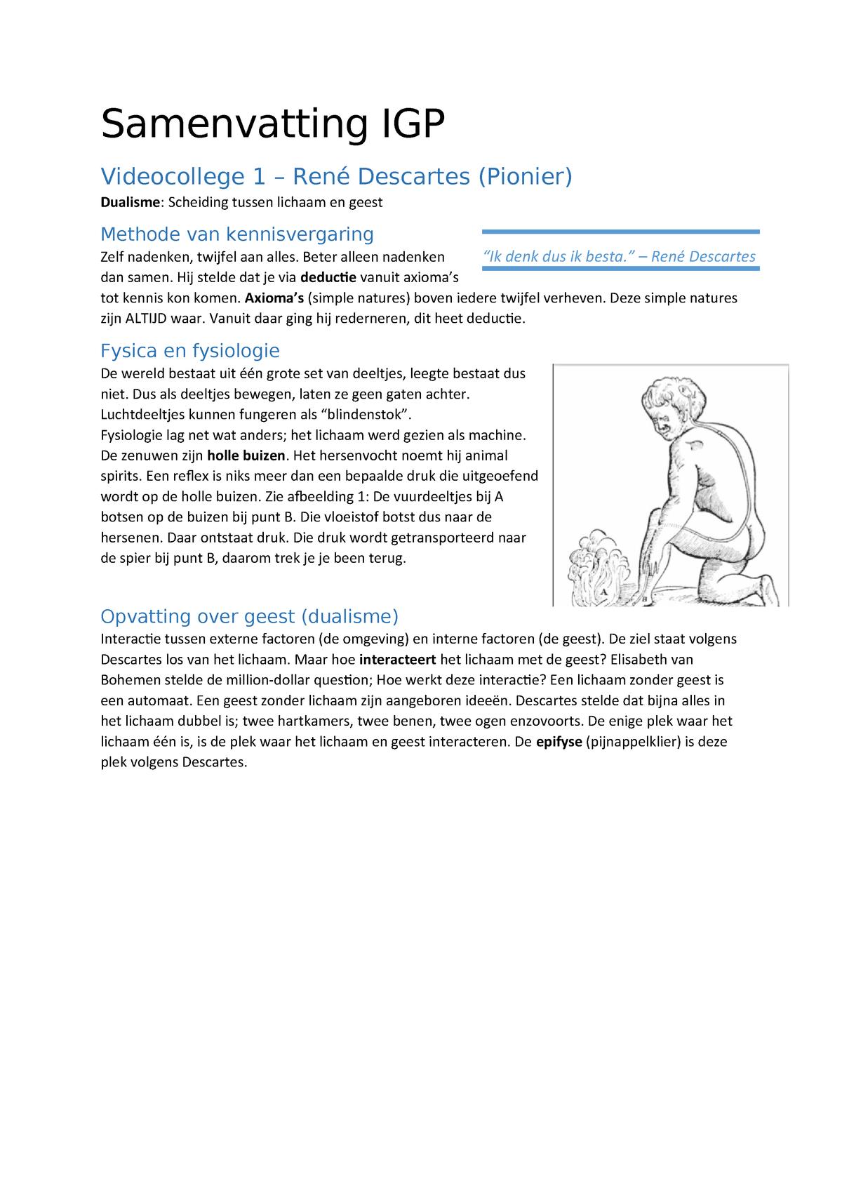 Inleiding En Geschiedenis Van De Psychologie Samenvatting