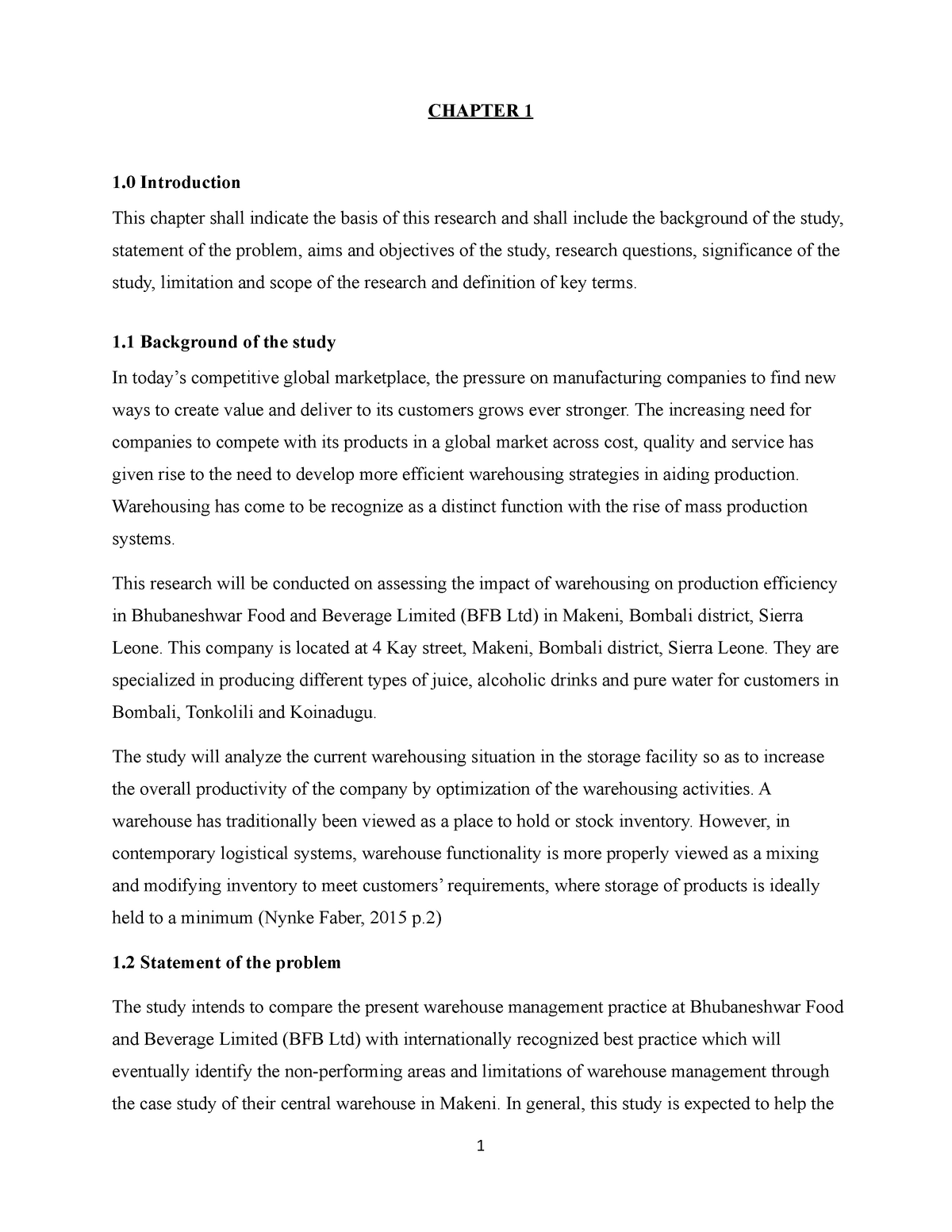 Research Proposal - Ishmael Aib Samura - PLSCM - StuDocu