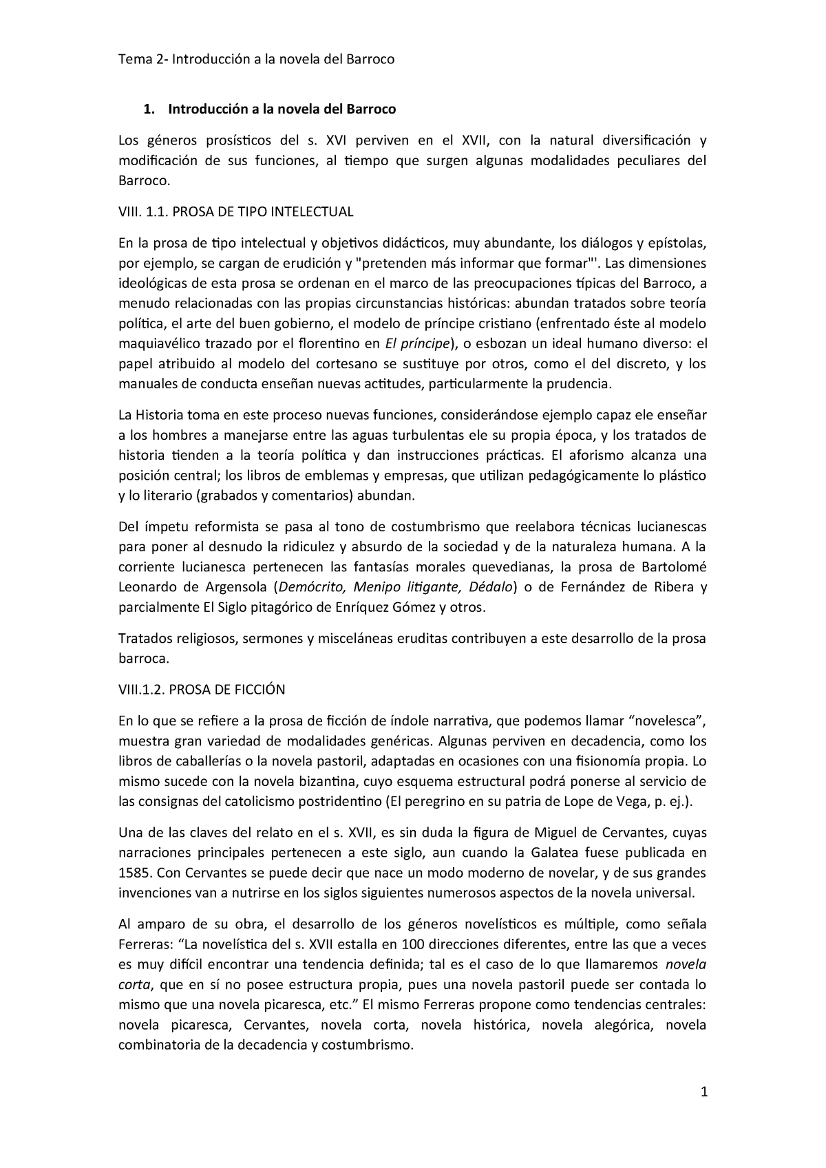 Tema 2 Novela Del Barroco 64012147 Uned Studocu