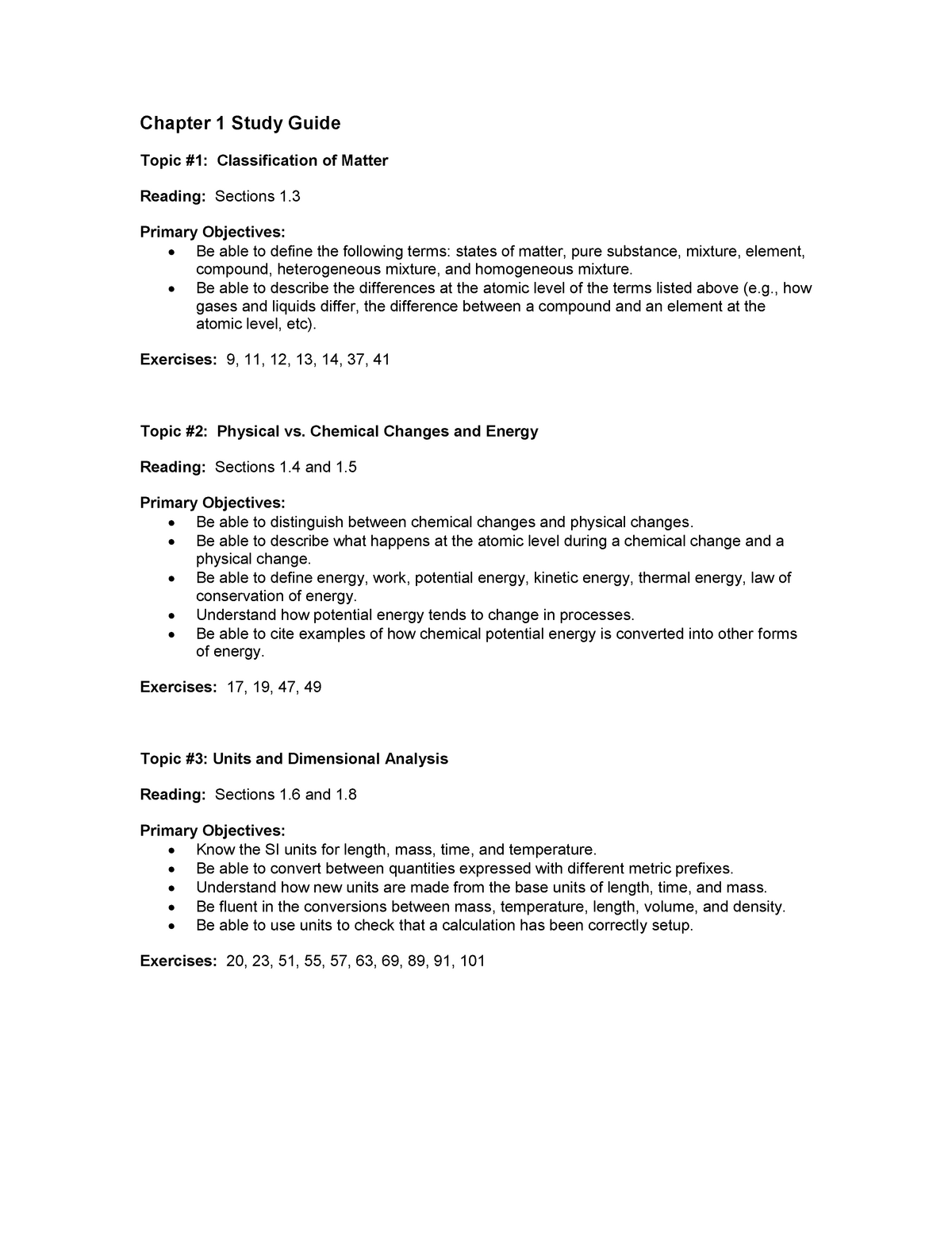 Summary Chemistry: a Molecular Approach - chapters 1-11