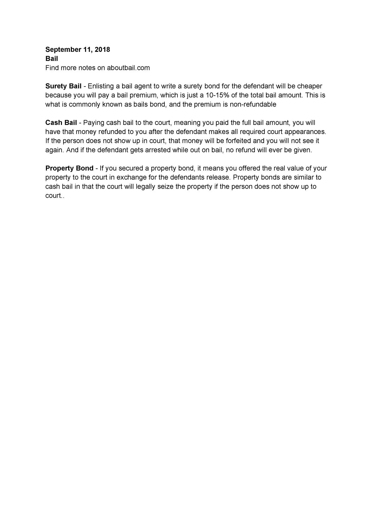 Psych 339 Notes On Bail Umass Boston Studocu