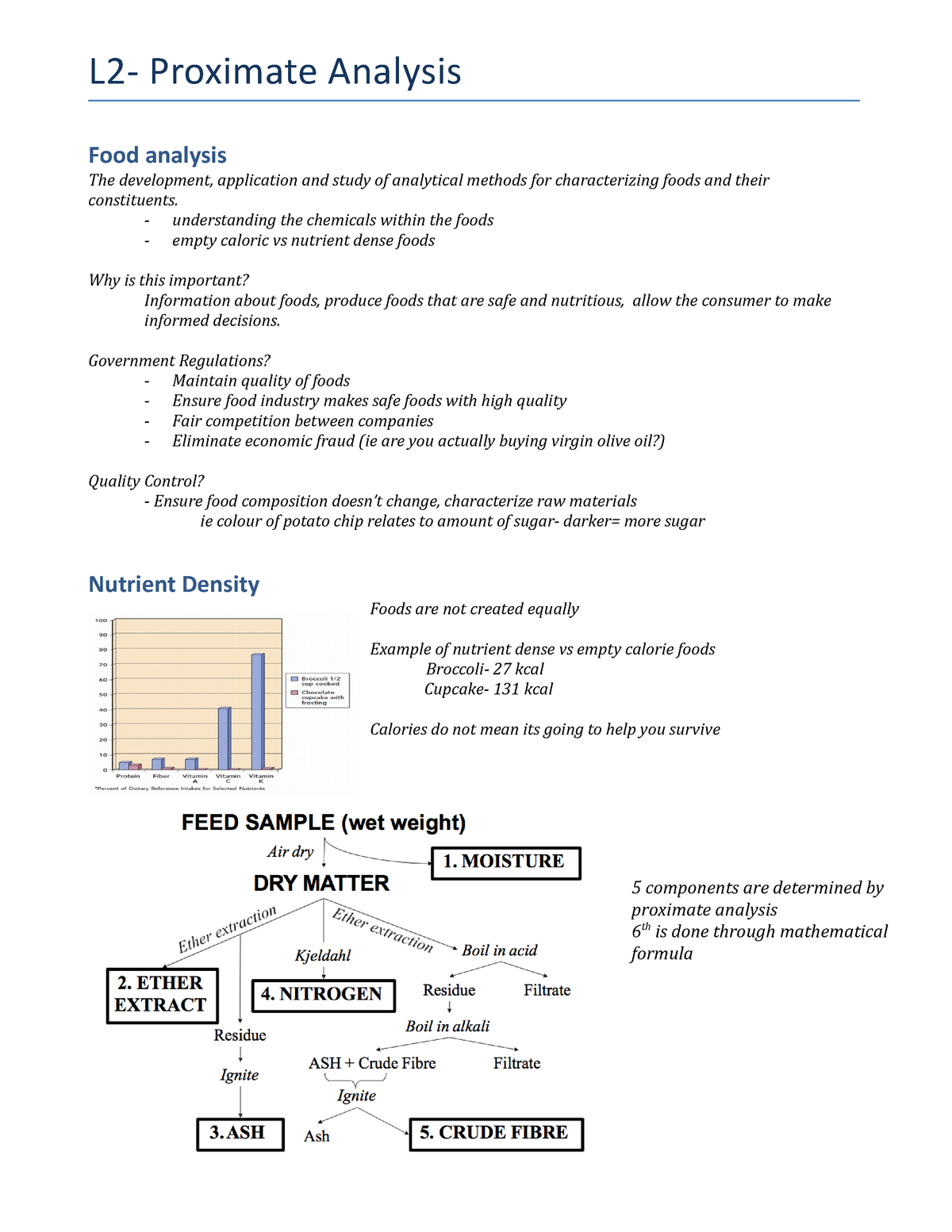 L2- Proximate Analysis - Nutr3210 - U of G - StuDocu