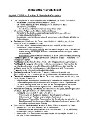 Wprskript Kapitel 8 Zusammenfassung Grundzüge Der