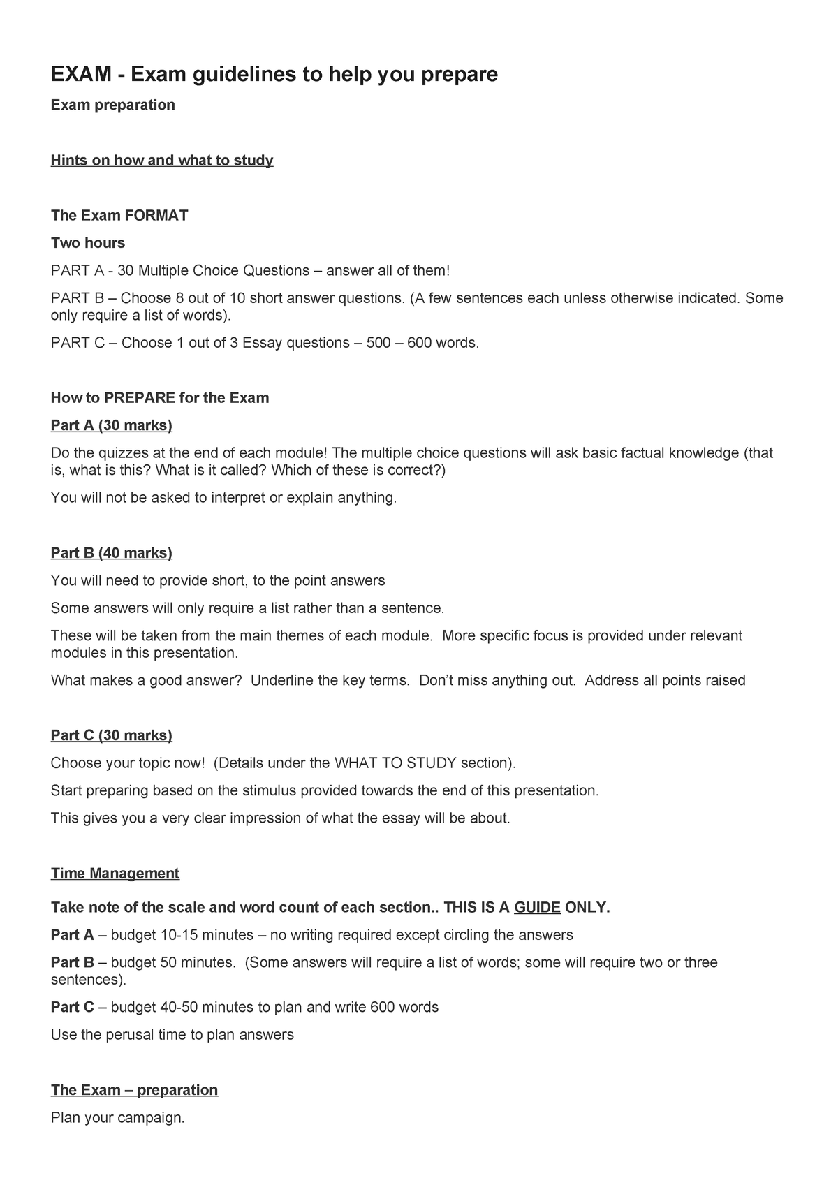 CMS1000 Assessment 4 Exam Info and Task Sheet - CMS1000