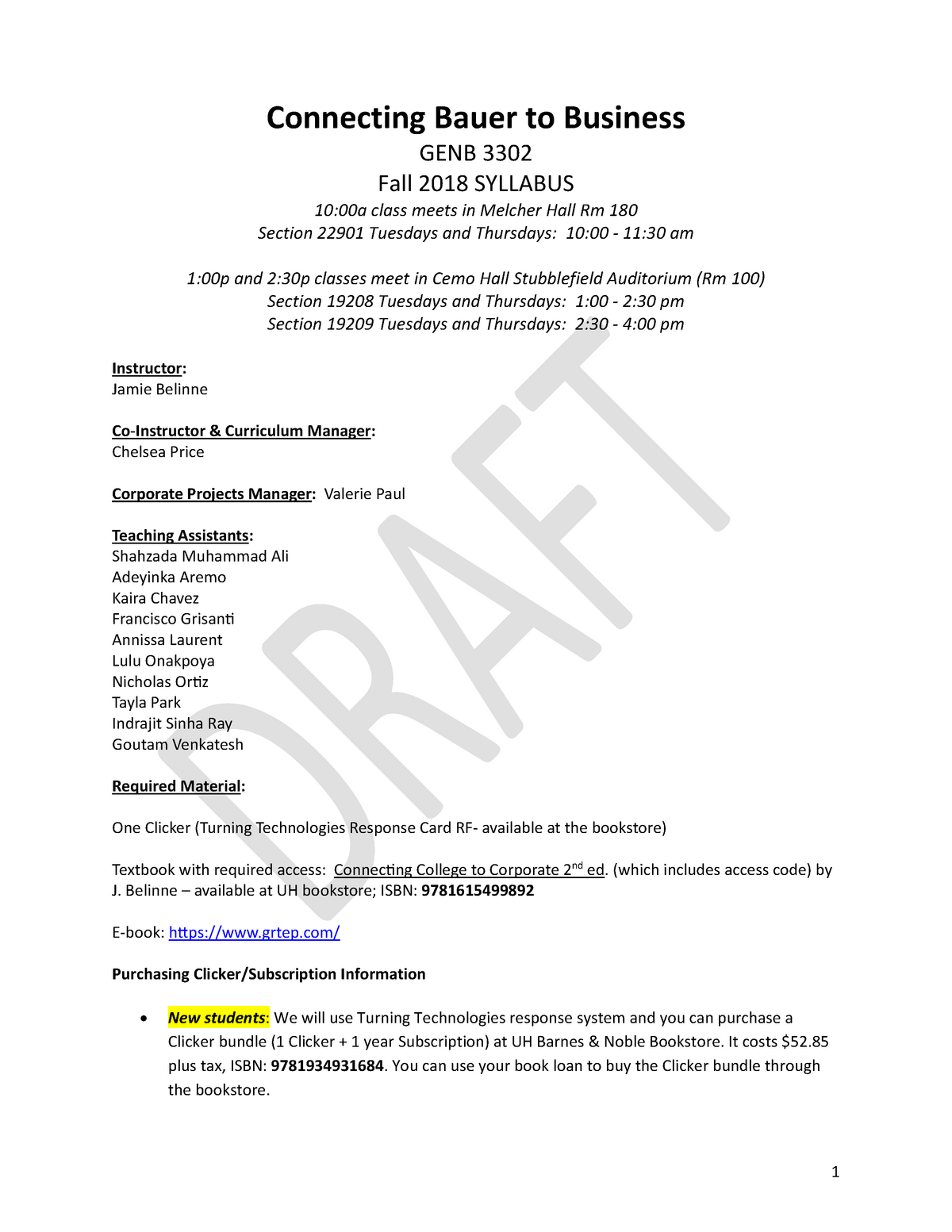 Fa18 Syllabus 330211 Genb 3302 Connecting Bauer To Business