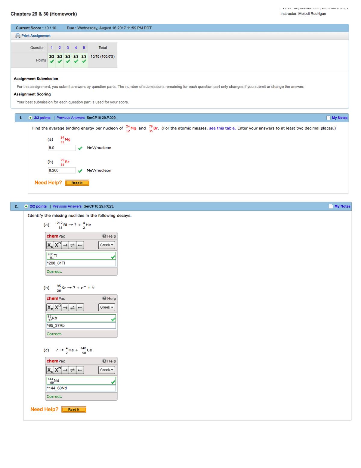 Webassignch 29 - WEBASSIGN CH 29 - PHYS 151A: General