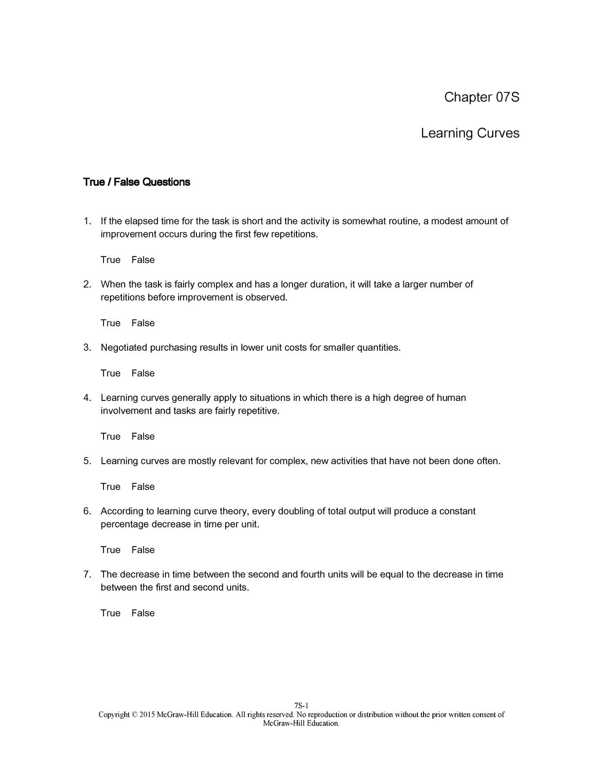 TBChap 007S - Solution manual International Logistics: The