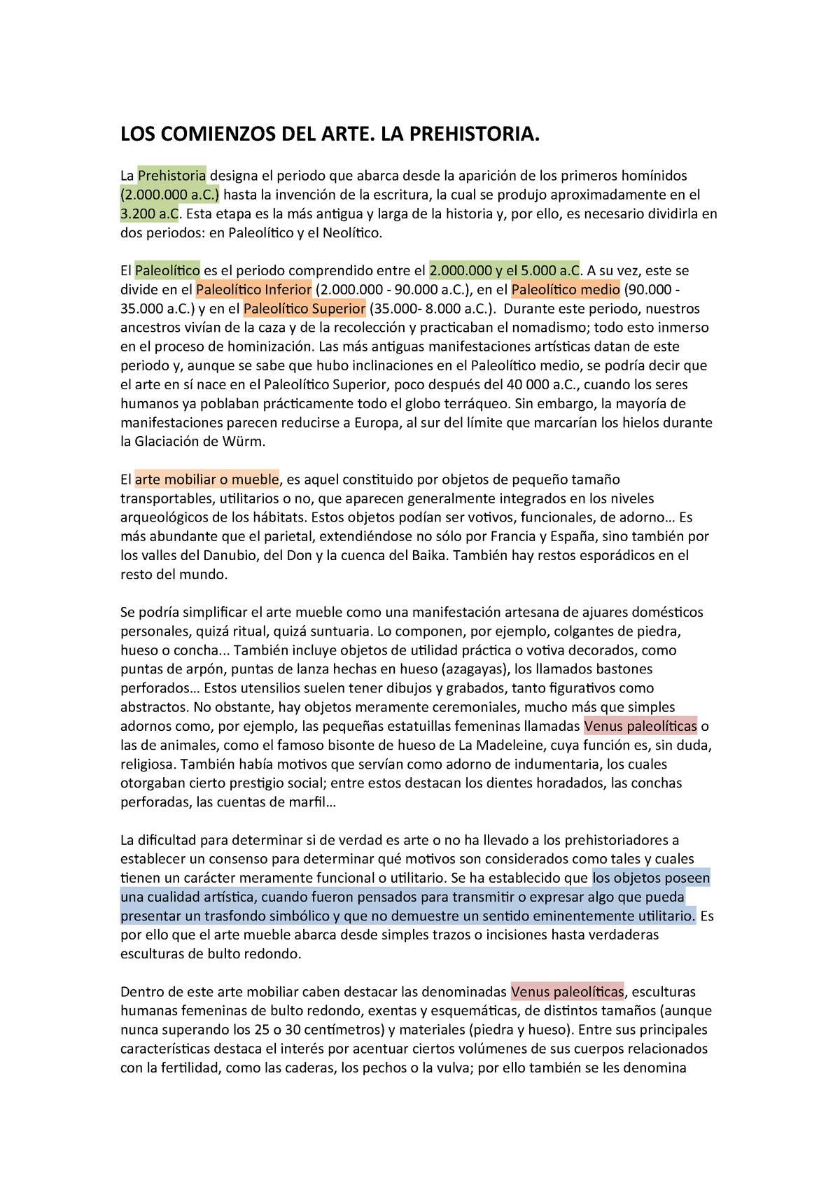 2a2464f7f Los Comienzos del Arte . LA Prehistoria - 800995: Historia Del Arte ...