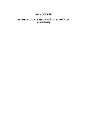 Istoria contemporana a romaniei pdf