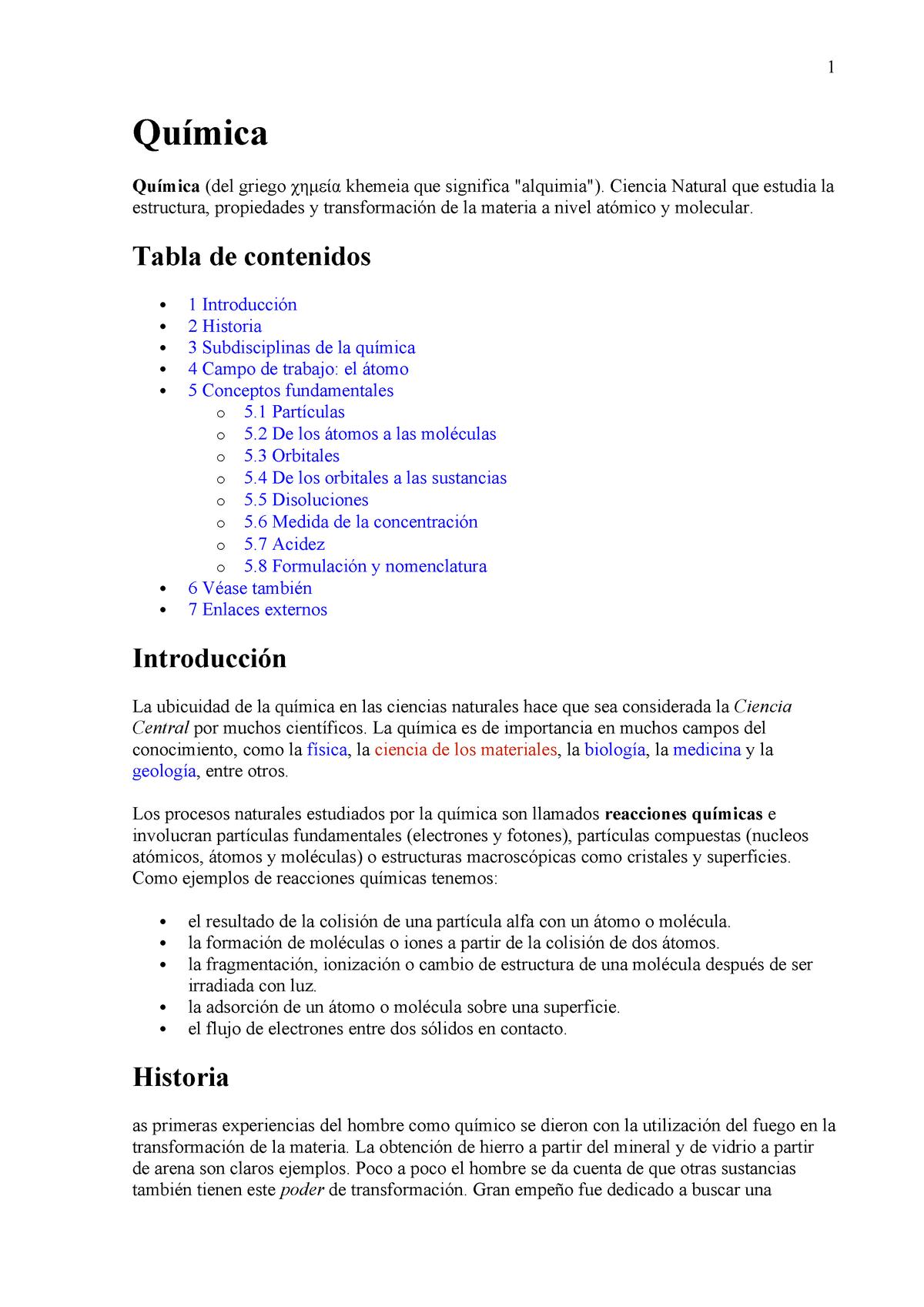 Quimica Bases Químicas Del Metabolismo Md1029 Itm Studocu