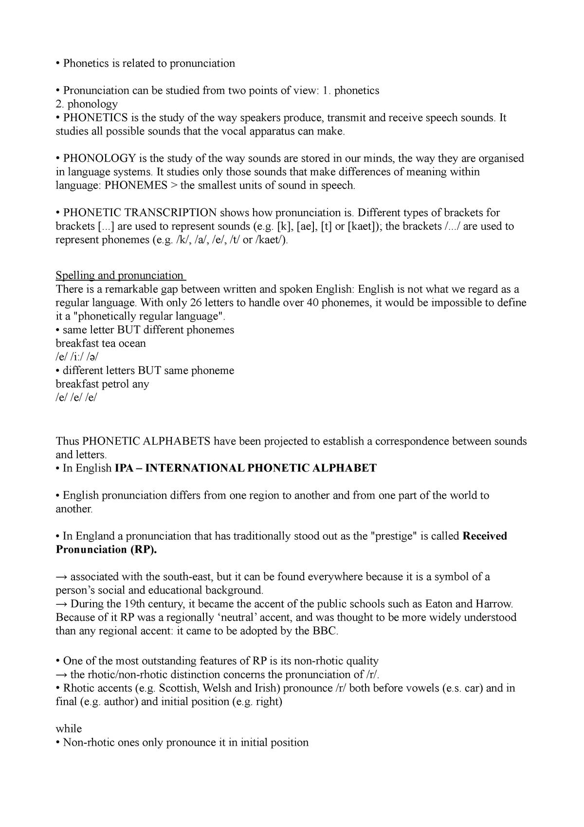 Phonetics And Phonology Lce 00001 Studocu